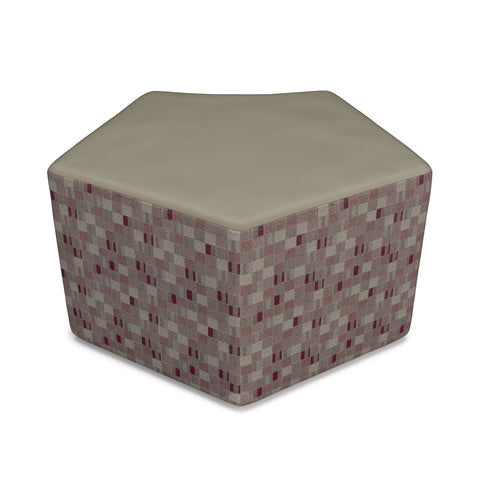 OFM Quin Series Model 55 Polyurethane Stool, Taupe with Plum ; UPC: 845123080290 ; Image 1