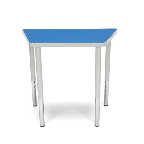 OFM Adapt Series Trapezoid Standard Table - 23-31? Height Adjustable Desk, Blue (TRAP-LL) ; UPC: 845123096666 ; Image 3
