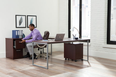 OFM Fulcrum Series 72x30 Desk, Minimalistic Modern Office Desk, Mahogany (CL-D7230-MHG) ; UPC: 845123097137 ; Image 11