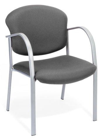 OFM 414-13 Reception Chair with Arms - Fabric Guest Chair, Graphite ; UPC: 811588010196 ; Image 1