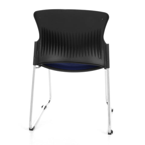 OFM Multi-Use Stack Chair with Fabric Seat, Navy ; UPC: 811588013845 ; Image 3