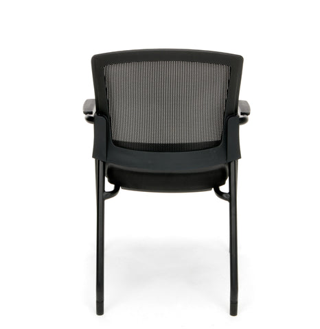 OFM Model 424 Mesh-Back Fabric Guest and Reception Chair, Black ; UPC: 845123089187 ; Image 3
