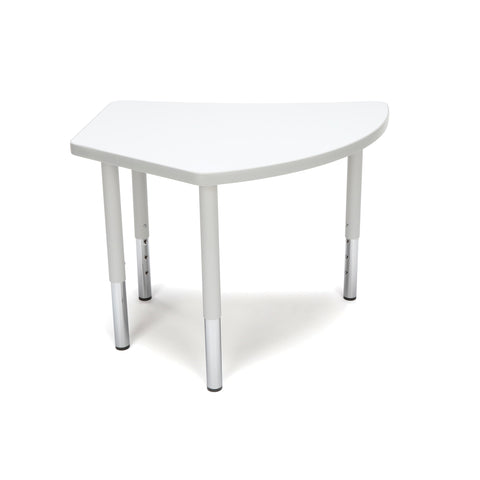 OFM Adapt Series Crescent Student Table - 18-26? Height Adjustable Desk, White (CREST-SL) ; UPC: 845123096291 ; Image 3
