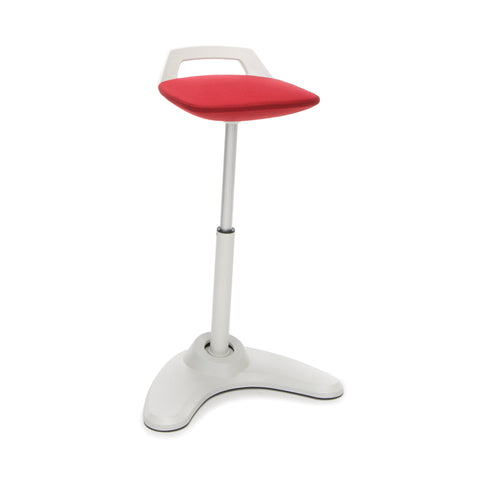 OFM VIVO Adjustable Height Bar Stool - Contemporary Perch Stool Chair, Red with Cream Trim (2800-CRM-RED) ; UPC: 845123090978 ; Image 1