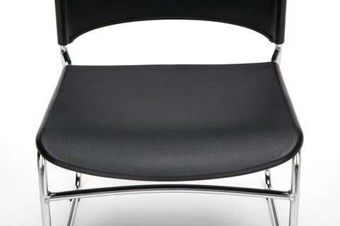 OFM Multi-Use Model 310-P Stack Chair with Plastic Seat and Back, Black ; UPC: 811588013876 ; Image 9