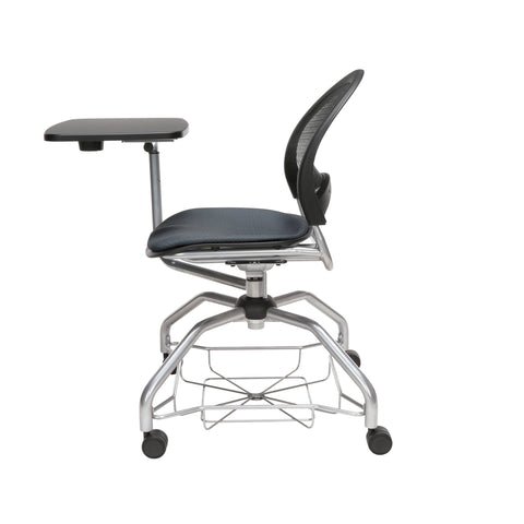 OFM Moon Foresee Series Tablet Chair with Removable Fabric Seat Cushion - Student Desk Chair, Slate Gray (339T) ; UPC: 845123094686 ; Image 5