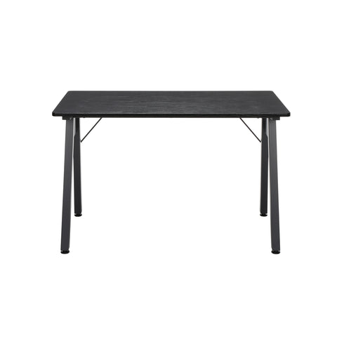 "OFM Essentials Collection 48"" Table Desk, Black Woodgrain (ESS-1050-BLK-BLK) ; UPC: 192767000123 ; Image 2"
