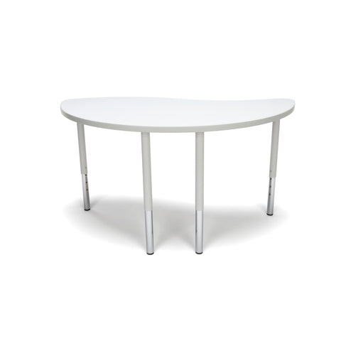 OFM Adapt Series Ying Standard Table - 23-31? Height Adjustable Desk, White (YING-LL) ; UPC: 845123096451 ; Image 2