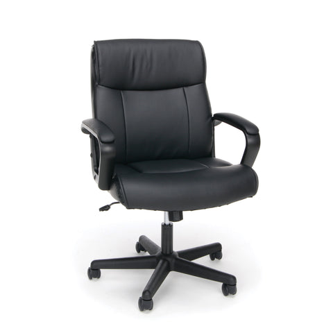 Essentials by OFM ESS-6010 Bonded Leather Executive Chair with Arms, Black ; UPC: 089191013846 ; Image 1