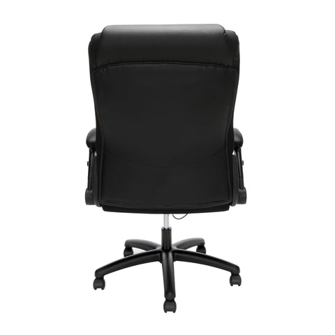 OFM Essentials Series Ergonomic Executive Bonded Leather Office Chair, in Black(ESS-6047-BLK) ; UPC: 192767000314 ; Image 3