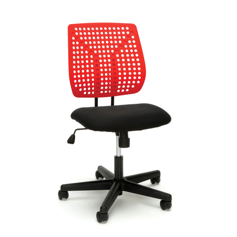 Essentials by OFM ESS-2050 Plastic Back Task Chair, Black with Red ; UPC: 845123092972 ; Image 1