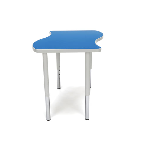 "OFM Adapt Series Small Wave Standard Table - 23-31"" Height Adjustable Desk, Blue (WAVE-S-LL) ; UPC: 845123097038 ; Image 4"