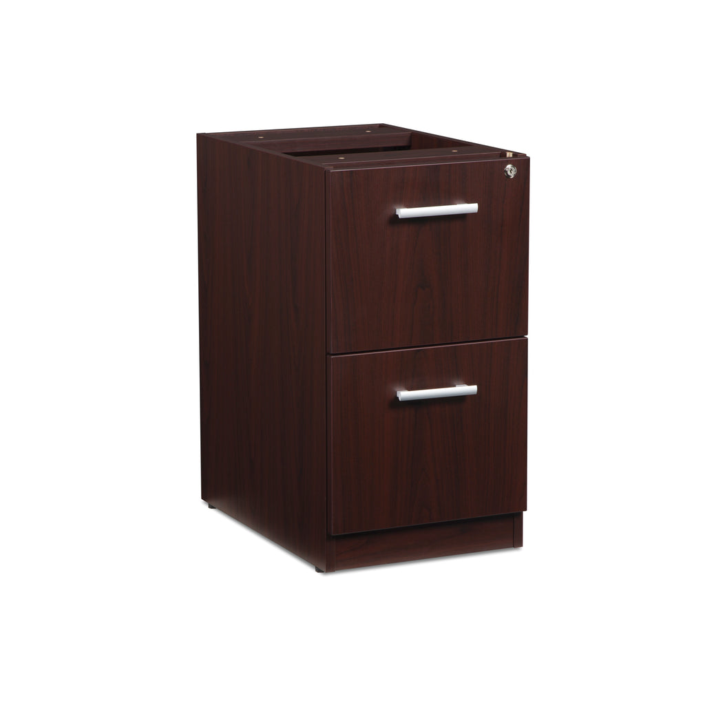 OFM Fulcrum Series Locking Pedestal, 2-Drawer Filing Cabinet, Mahogany (CL-FF-MHG) ; UPC: 845123097496 ; Image 1