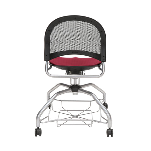 OFM Moon Foresee Series Chair with Removable Fabric Seat Cushion - Student Chair, Burgundy (339) ; UPC: 845123094457 ; Image 3