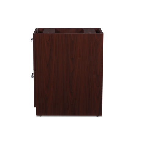 OFM Fulcrum Series Locking Pedestal, 2-Drawer Filing Cabinet, Mahogany (CL-FF-MHG) ; UPC: 845123097496 ; Image 5
