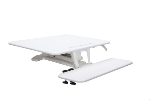 OFM Model 5200S Height Adjustable Sit-to-Stand Small Workstation, White ; UPC: 845123092798 ; Image 1