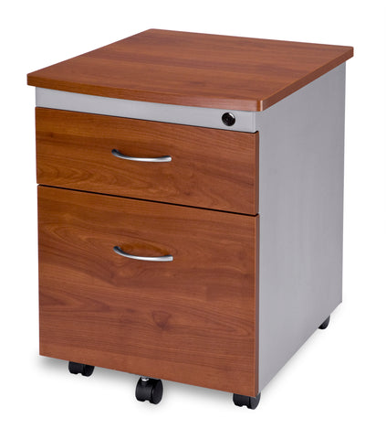 OFM Model 55106 Modular Wheeled Mobile 2-Drawer File Cabinet Pedestal, Cherry ; UPC: 811588016372 ; Image 1