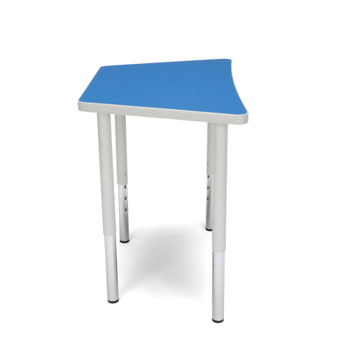 OFM Adapt Series Trapezoid Standard Table - 23-31? Height Adjustable Desk, Blue (TRAP-LL) ; UPC: 845123096666 ; Image 4