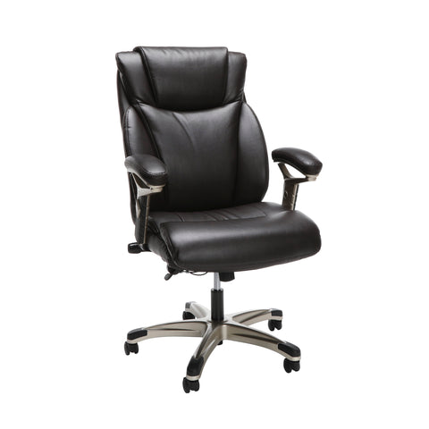 OFM Essentials Series Ergonomic Executive Bonded Leather Office Chair, in Brown (ESS-6046-BRN) ; UPC: 192767000307 ; Image 1