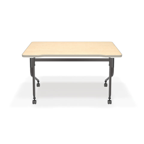 "OFM Mesa Series Model 66122 Flip Nesting Training Table and Desk, 23.5"" x 47.25"", Maple ; UPC: 845123080320 ; Image 3"