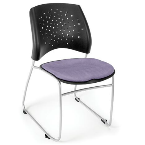 OFM Four Pack Star Stack Chair - Lavender 3254PK2202, Image 1 ; UPC: 845123048559