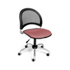 OFM Moon Swivel Chair in Coral Pink