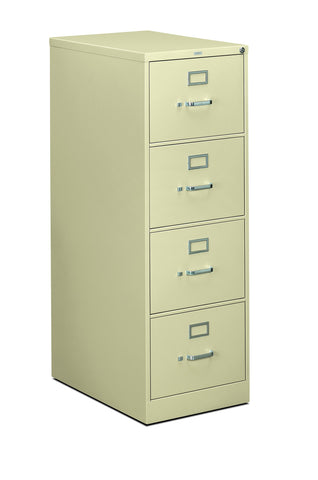 HON 310 Series Vertical File Cabinet Legal Width, 4 Drawers, Putty (H314C) ; UPC: 089192040520 ; Image 1