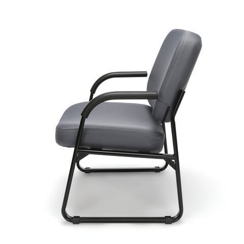 OFM Model 407 Fabric Big and Tall Guest and Reception Chair with Arms, Gray ; UPC: 845123028551 ; Image 5
