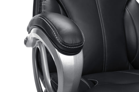 Essentials by OFM ESS-202 Big and Tall Leather Executive Office Chair with Arms, Black/Silver ; UPC: 845123080139 ; Image 9