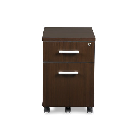 OFM Fulcrum Series Locking Pedestal, Mobile 2-Drawer Filing Cabinet, Espresso (CL-MBF-ESP) ; UPC: 845123097526 ; Image 2