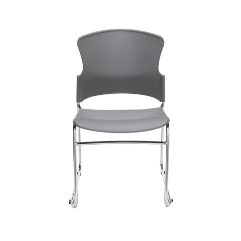 OFM Multi-Use Model 310-P Stack Chair with Plastic Seat and Back, Gray ; UPC: 811588013869 ; Image 2