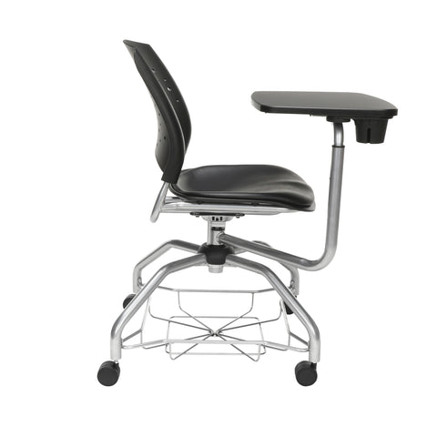 OFM Stars Foresee Series Tablet Chair with Removable Vinyl Seat Cushion - Student Desk Chair, Black (329T-VAM) ; UPC: 845123094341 ; Image 4