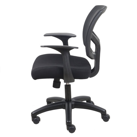 Essentials by OFM ESS-3030 Swivel Mesh Back Task Chair with Arms, Black ; UPC: 089191013549 ; Image 5