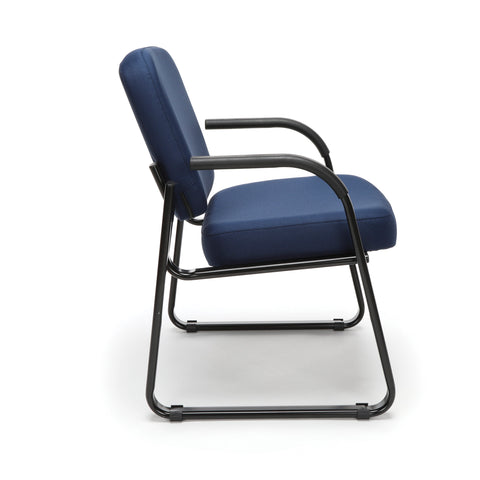 OFM Model 403 Fabric Guest and Reception Chair with Arms and Extra Thick Cushion, Navy ; UPC: 811588014149 ; Image 4