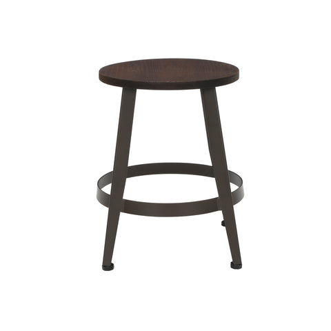"OFM Core Collection Edge Series 18"" Table Height Metal Stool, in Walnut (33918W-WLT) ; UPC: 192767002431 ; Image 4"