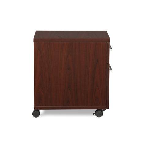 OFM Fulcrum Series Locking Pedestal, Mobile 2-Drawer Filing Cabinet, Mahogany (CL-MBF-MHG) ; UPC: 845123097533 ; Image 4