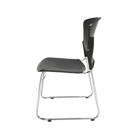 OFM Multi-Use Model 310-P Stack Chair with Plastic Seat and Back, Black ; UPC: 811588013876 ; Image 5