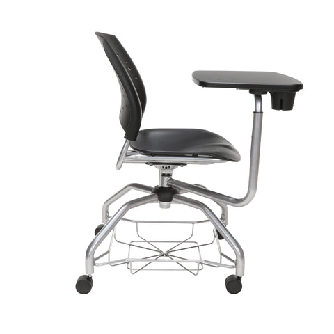 OFM Stars Foresee Series Tablet Chair with Removable Plastic Seat Cushion - Student Desk Chair, Black (329T-P) ; UPC: 845123094297 ; Image 4