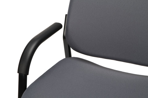 OFM Model 407 Fabric Big and Tall Guest and Reception Chair with Arms, Gray ; UPC: 845123028551 ; Image 8