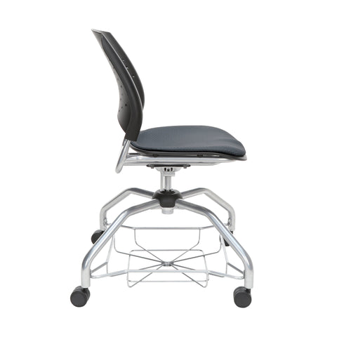 OFM Stars Foresee Series Chair with Removable Fabric Seat Cushion - Student Chair, Slate Gray (329) ; UPC: 845123094020 ; Image 4