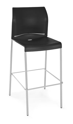 Essentials by OFM E2000 Café Height Stacking Stool, Black ; UPC: 845123031339 ; Image 1