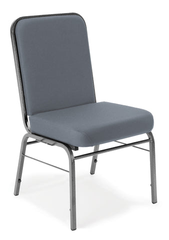 OFM Comfort Class Series Model 300-SV Fabric Stack Chair with Silver Vein Frame, Gray ; UPC: 811588013388 ; Image 1