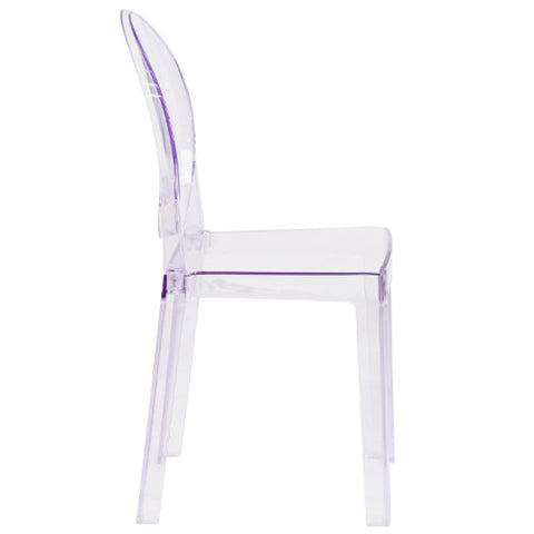 Flash Furniture Ghost Chair with Oval Back in Transparent Crystal OWGHOSTBACK18GG ; Image 2 ; UPC 889142083467