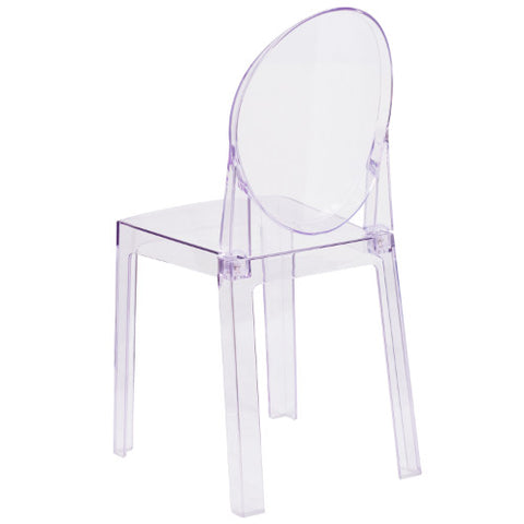 Flash Furniture Ghost Chair with Oval Back in Transparent Crystal OWGHOSTBACK18GG ; Image 3 ; UPC 889142083467