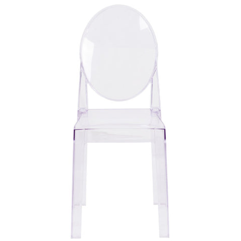 Flash Furniture Ghost Chair with Oval Back in Transparent Crystal OWGHOSTBACK18GG ; Image 4 ; UPC 889142083467