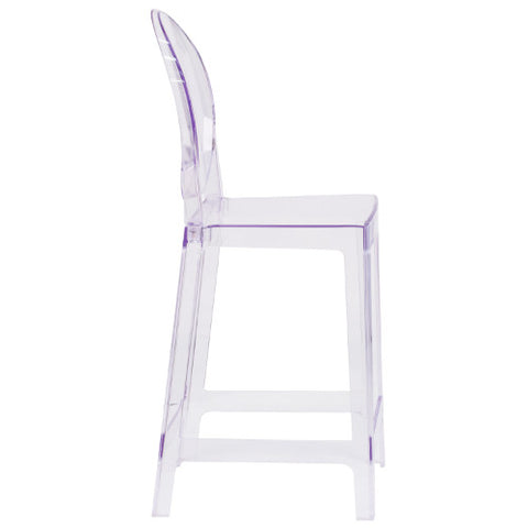Flash Furniture Ghost Counter Stool with Oval Back in Transparent Crystal OWGHOSTBACK24GG ; Image 2 ; UPC 889142083504