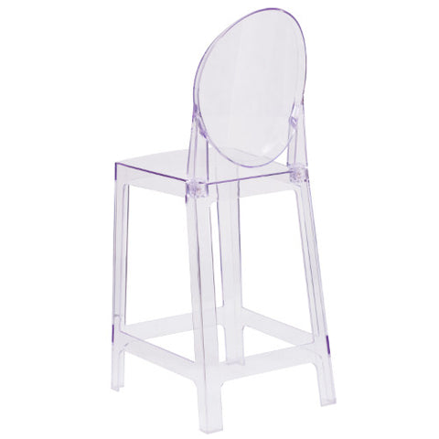 Flash Furniture Ghost Counter Stool with Oval Back in Transparent Crystal OWGHOSTBACK24GG ; Image 3 ; UPC 889142083504