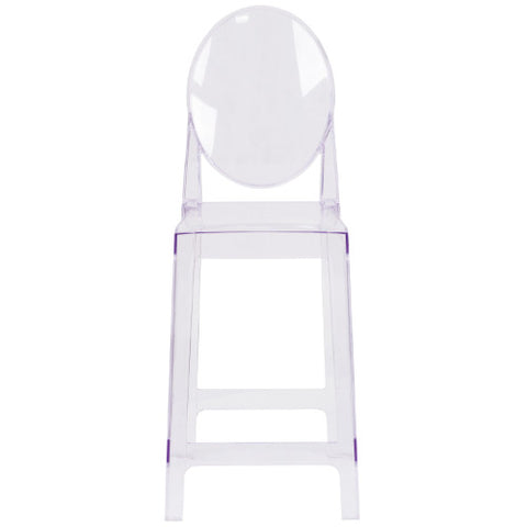 Flash Furniture Ghost Counter Stool with Oval Back in Transparent Crystal OWGHOSTBACK24GG ; Image 4 ; UPC 889142083504