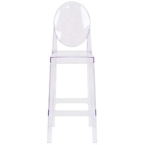 Flash Furniture Ghost Barstool with Oval Back in Transparent Crystal OWGHOSTBACK29GG ; Image 4 ; UPC 889142083542