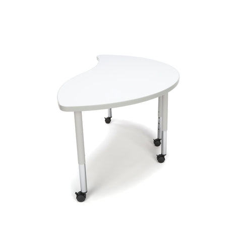 OFM Adapt Series Ying Student Table - 20-28? Height Adjustable Desk with Casters, White (YING-SLC) ; UPC: 845123096819 ; Image 5